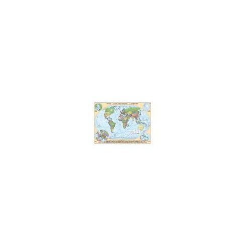 ŚWIAT - mapa polityczna 1:18 000 000 mapa ścienna od Cartographica