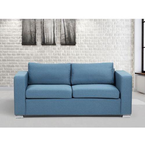 Sofa niebieska - trzyosobowa - kanapa - sofa tapicerowana - HELSINKI, Beliani
