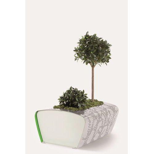 Designerska donica miejska z aluminium Vilagrasa Berta od HAGEA