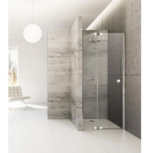 Huppe Studio Berlin Pure Drzwi prysznicowe częściowo w ramie skrzydłowe ze stałym segmentem do wnęki Moco