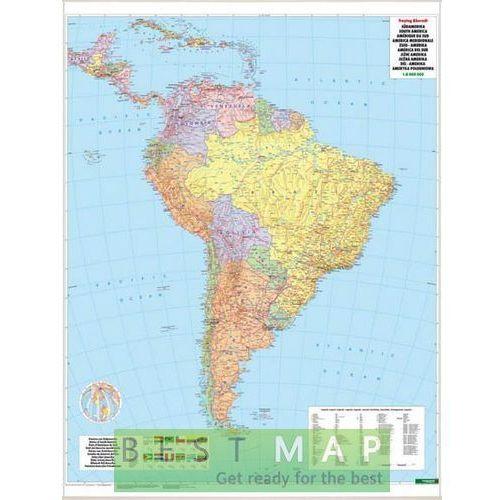 Ameryka Południowa. Mapa ścienna polityczna w ramie 1:8 mln wyd. , produkt marki Freytag&Berndt