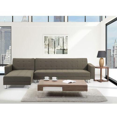 Sofa brazowa - Sofa narozna - Sofa rozkladana - Sofa tapicerowana - ABERDEEN, Beliani