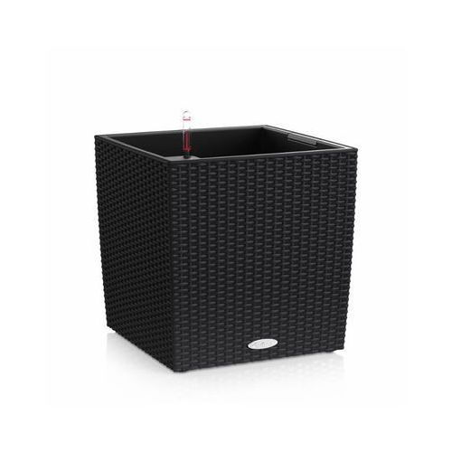 Donica  CUBE COTTAGE 2012 - czarna - 40 cm - all inclusive - Czarny, produkt marki Lechuza