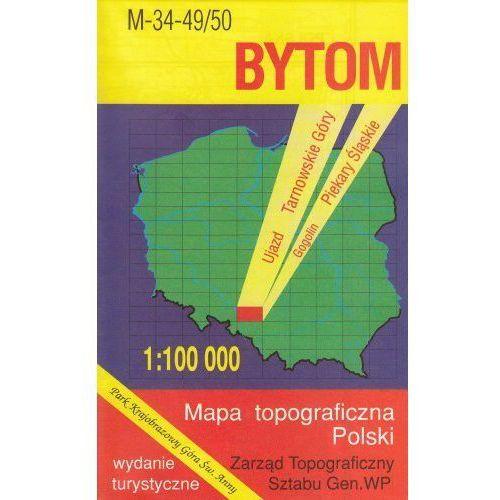 M-34-49/50 Bytom. Mapa topograficzno-turystyczna 1:100 000 wyd. WZ-Kart, produkt marki Wojskowe Zakłady Kartograficzne