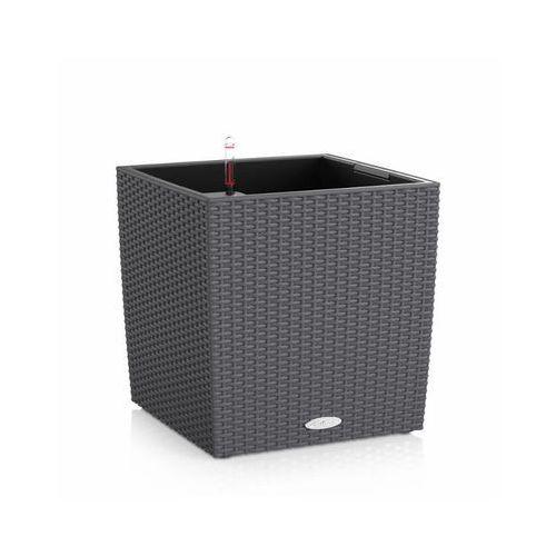 Donica  CUBE COTTAGE 2012 - granitowa - 40 cm - all inclusive - Granit, produkt marki Lechuza