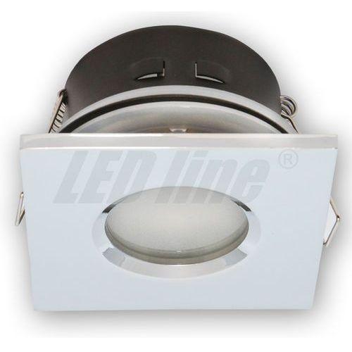 LED line Oprawa oprawka led halogenowa wodoodporna stała kwadratowa kolor chrom IP65 245381 z kategorii oświetlenie