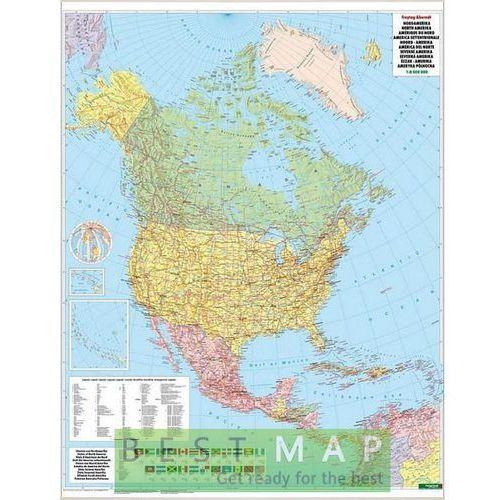 Ameryka Północna. Mapa ścienna polityczna w ramie 1:8 mln wyd. , produkt marki Freytag&Berndt