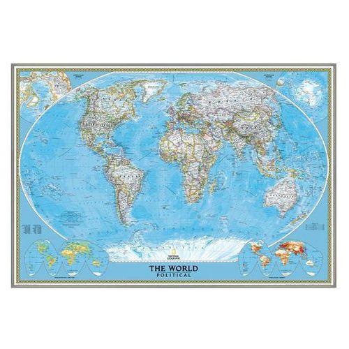 Świat. Mapa ścienna polityczna Classic w ramie 1:24 mln wyd. , produkt marki National Geographic