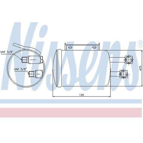 Towar z kategorii: osuszacze powietrza - Osuszacz, klimatyzacja NISSENS 95106