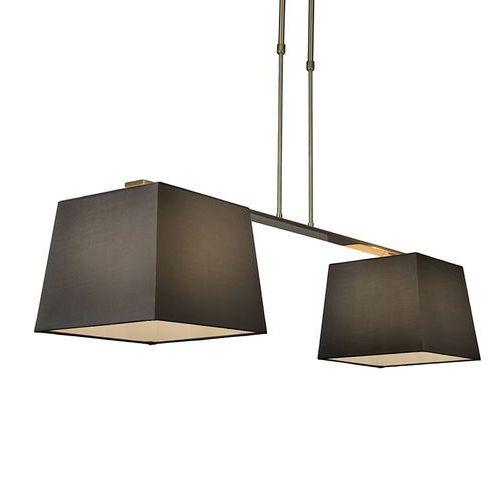 Lampa wisząca Combi Delux 2 klosz kwadratowy 30cm czarny - sprawdź w lampyiswiatlo.pl