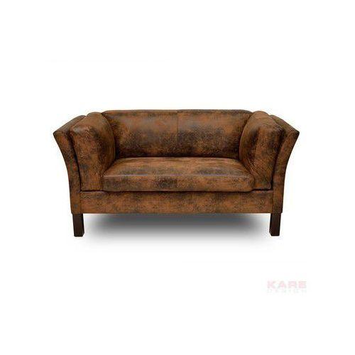 Canapee Sofa 2 Osobowa Brązowa Tkanina 73x160x79cm - 77566