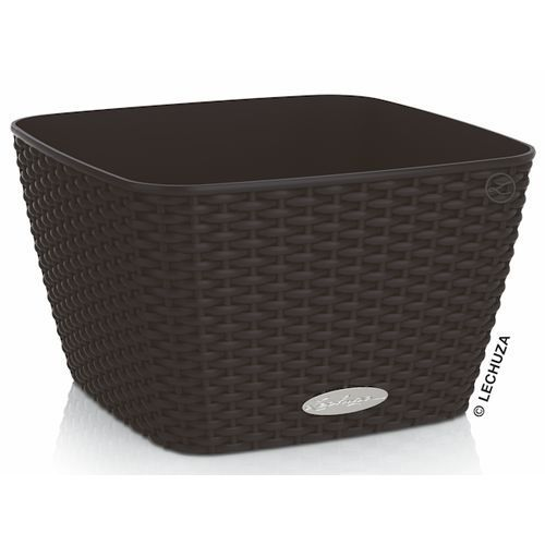 Donica Lechuza Bacino Cottage czarna 30x30x18, produkt marki Produkty marki Lechuza