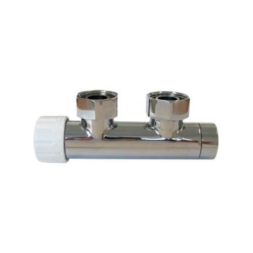 Zawór zintegrowany DUO-PLEX 50mm SCHLOSSER - chrom, lewy.