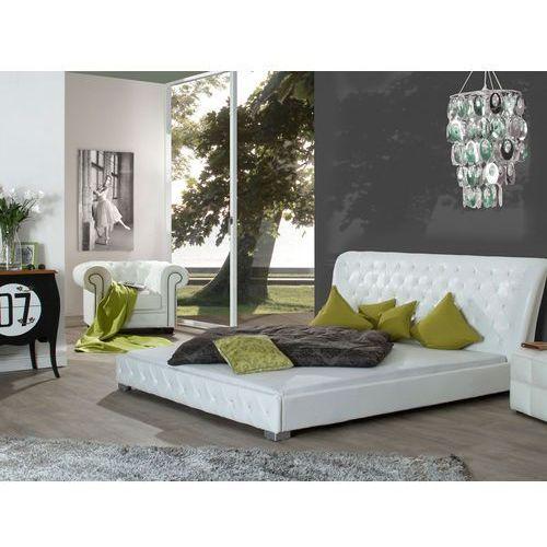 Łóżko Noble, 180x200 cm, biały, skóra ekologiczna ze sklepu FUTURI Nowoczesne Meble