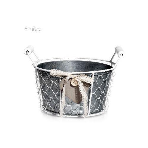 Pojemnik metalowy okrągły z serduszkiem, średni, produkt marki Inne marki