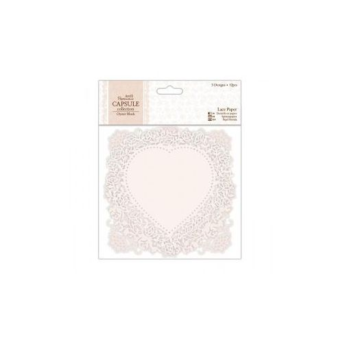 Oferta Zestaw ażurowych papierów Papermania OYSTER BLUSH 12 kartek