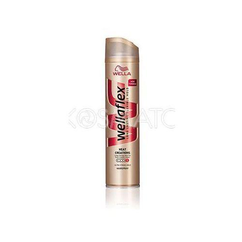 Produkt z kategorii- pozostałe kosmetyki do włosów - Wellaflex Heat Creations (Stylizacja Na Gorąco) Lakier, 250 ml