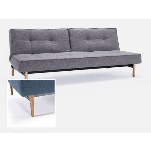 Sofa Splitback szarobeżowa 521 nogi jasne drewno  741010521-741024-1-6, INNOVATION iStyle