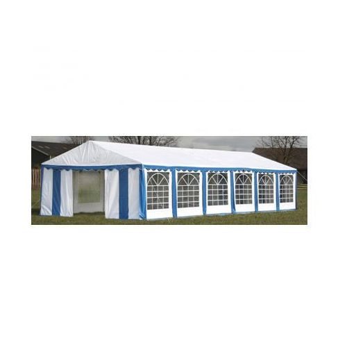 Pawilon ogrodowy 12x6m (dach+penele boczne), niebiesko-biały, produkt marki vidaXL