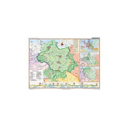 Produkt Polska pierwszych Piastów. Mapa ścienna., marki Meridian
