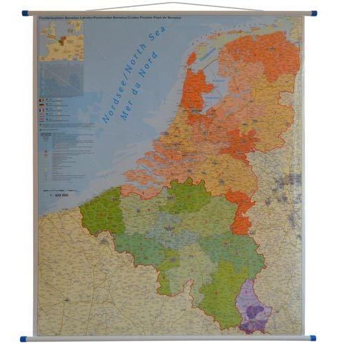 Beneluks: Belgia, Holandia i Luksemburg. Mapa ścienna kodów pocztowych 1:420 000 wyd. Stiefel, produkt marki Stiefel Eurocart