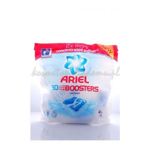 ARIEL 3D BOOSTERS WHITENER - KAPSUŁKI WYBIELAJĄCE I ODPLAMIAJĄCE ARIEL (wybielacz i odplamiacz do ubrań) o