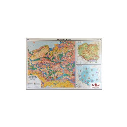 Polska. Gleby. Mapa ścienna Polski, produkt marki Nowa Era