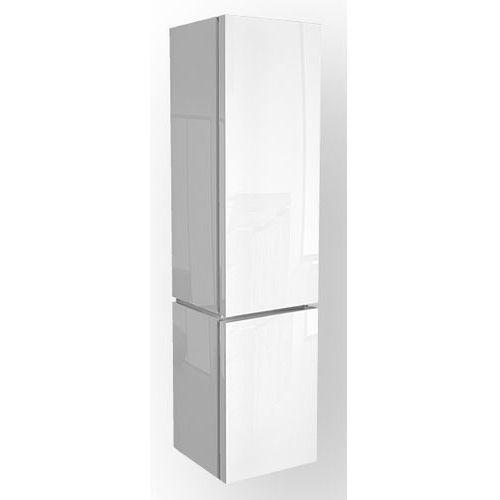 KOŁO szafka wisząca boczna wysoka Varius biała - słupek 88116 - produkt z kategorii- regały łazienkowe