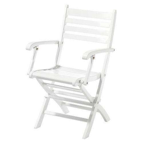 Krzesło składane Cinas York biały połysk ze sklepu All4home