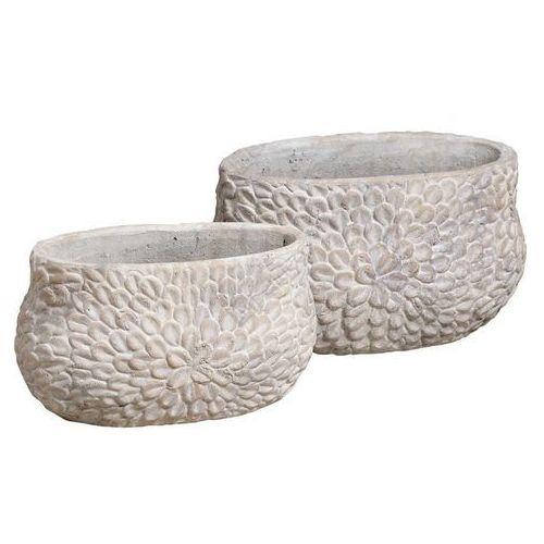 Produkt Donica osłonka Casa Creme Flower Oval, marki Kolekcja Belldeco