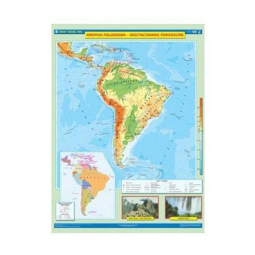 Ameryka Południowa. Mapa ścienna Ameryki Południowej. Ukształtowanie powierzchni / Krajobrazy, produkt marki Nowa Era