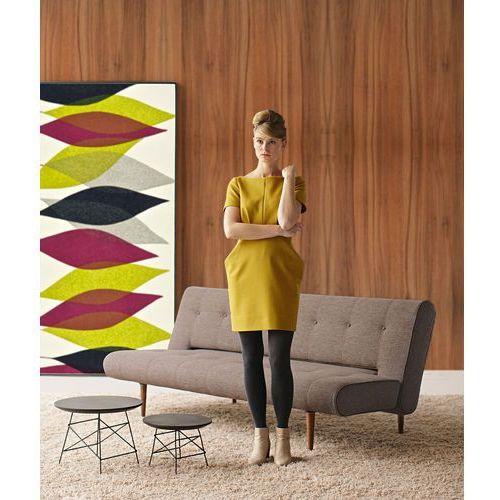 Istyle Unfurl DELUXE, Sofa Rozkładana, brązowa pikowana tkanina 520, nogi drewniane - 741049520-3-2