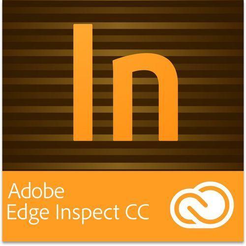 Adobe Edge Inspect CC PL dla użytkowników wcześniejszych wersji - Subskrypcja - produkt z kategorii- Pozostałe oprogramowanie