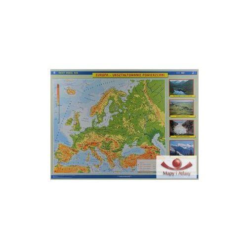 Europa. Mapa ścienna. Ukształtowanie powierzchni (fizyczna) / Krajobrazy., produkt marki Nowa Era