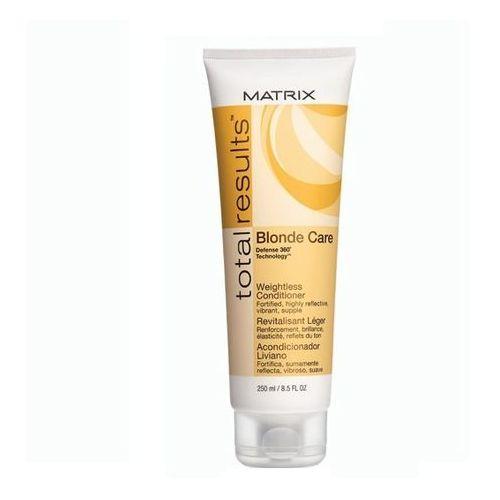 Matrix Blonde Care Total Results odżywka do włosów blond 250ml - produkt z kategorii- odżywki do włosów