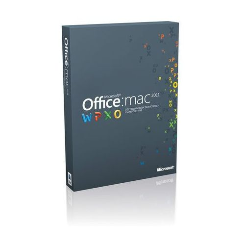 Program MICROSOFT Office dla Mac dla Użytkowników Domowych i Małych Firm 1PK 2011 Polish Eurozone Medialess z kategorii Programy biurowe i narzędziowe
