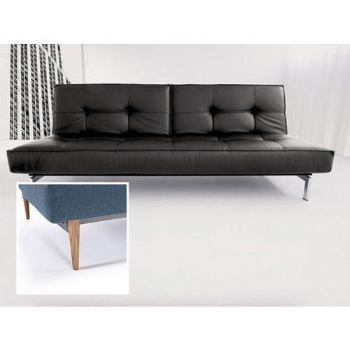 Sofa Splitback czarna 582 nogi jasne drewno  741010582-741024-1-6, INNOVATION iStyle
