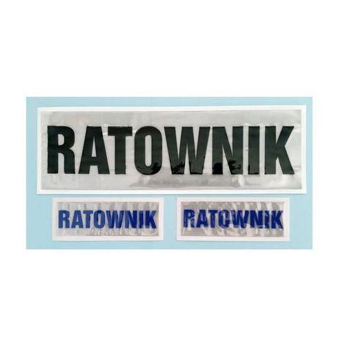 Naszywka odblaskowa duża RATOWNIK - produkt dostępny w Sklep Ratownik24.pl