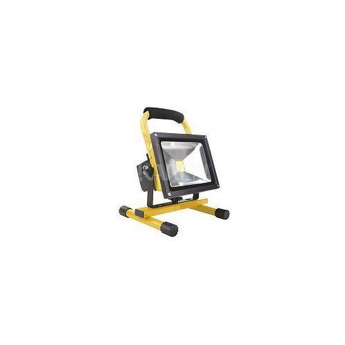 Whitenergy  Naświetlacz LED z baterią 20W|6000K|1600lm|IP65| na stojaku z kat. pozostałe oświetlenie zewnętrzne