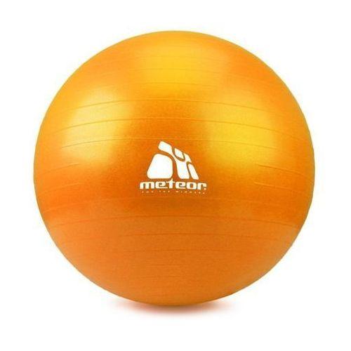 Piłka Fitness  75 cm z pompką warm yellow, produkt marki Meteor