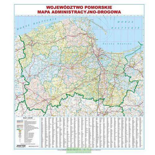 Województwo Pomorskie. Mapa ścienna administracyjno-drogowa 1:200 000 wyd. , produkt marki Eko-Graf