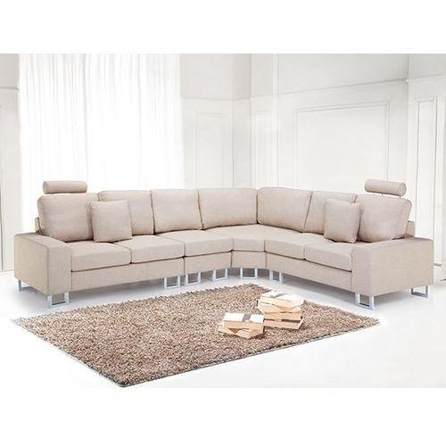 Sofa tapicerowana - kanapa z 100% poliestru bezowa - STOCKHOLM, Beliani