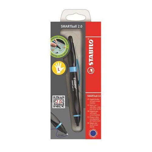 Długopis i rysik SMARTBALL 2.0 dla leworęcznych w kolorze czarno - niebieskim - oferta [2572e507f1c26365]