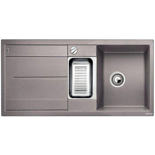 Zlew BLANCO METRA 6S ALUMETALIK (korek automatyczny, odsączarka stalowa) 513045 //zamów wycięcie otworów g