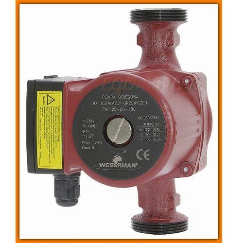 Towar z kategorii: pompy cyrkulacyjne - pompa obiegowa do instalacji grzewczej 0202W WEBERMAN 25-60 180