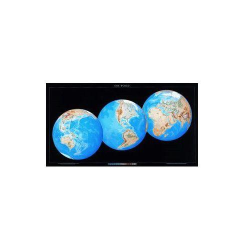 3 Globes View - Świat mapa ścienna trzy globy, produkt marki Columbus