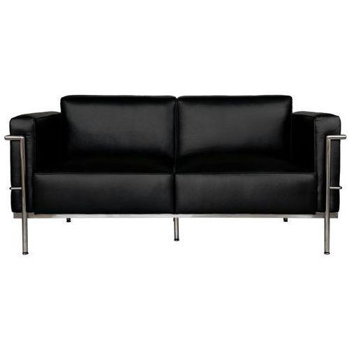 Sofa 2-osobowa Soft GC czarna skóra