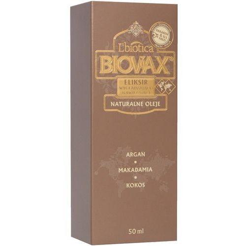 Produkt z kategorii- pozostałe kosmetyki do włosów - WAX BIOVAX Naturalne Oleje, eliksir wygładzająco-nawilżający 50ml