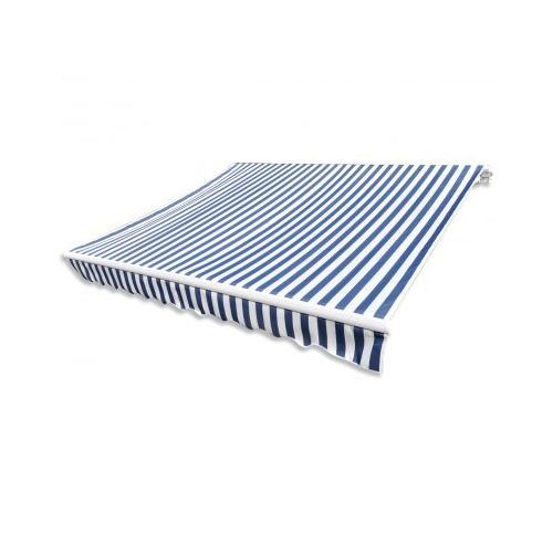 Markiza przeciwsłoneczna biało-niebieskie płótno 3 x 2,5 m ( bez stalażu ) - sprawdź w VidaXL
