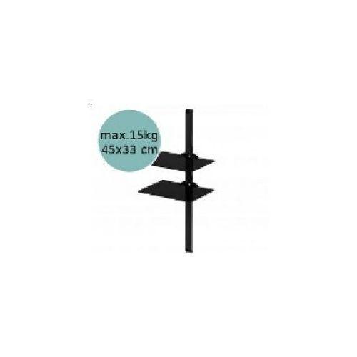 Sonorous PL2620 - Panel cienny pod sprzt, czarny z kategorii półki rtv